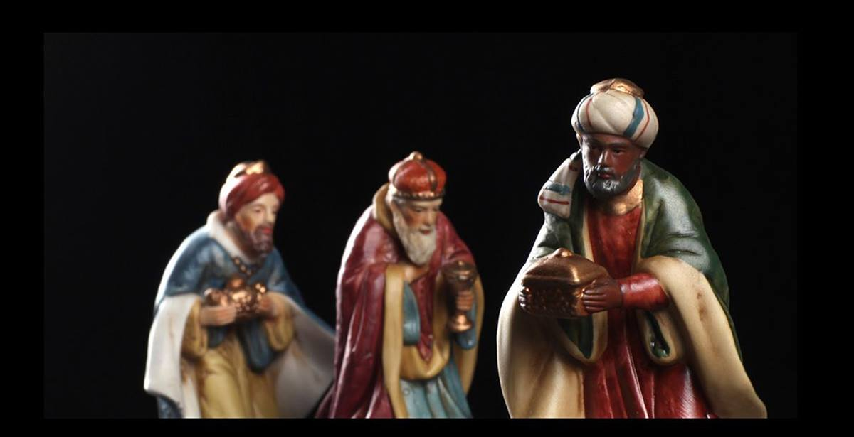 Photo of the three kings taken in the UMCom studio to illustrate a Epiphany story. A UMNS photo by Kathleen Barry.; Kathleen Barry