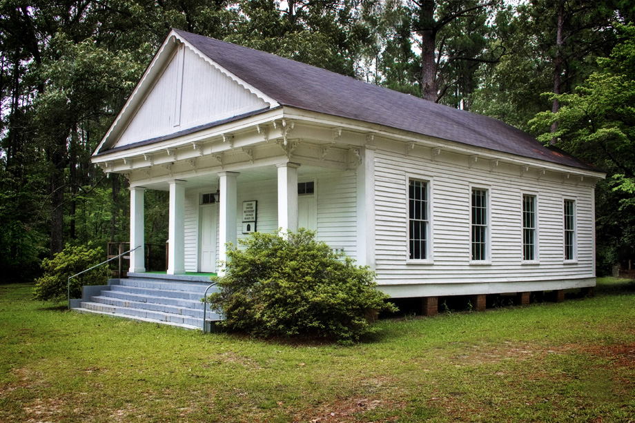 Union United Methodist Church in Bulloch County, Ga., was organized in 1790. The current sanctuary is the church's third, and dates to 1884. Photo by Randall Davis, courtesy Historic Rural Churches of Georgia.