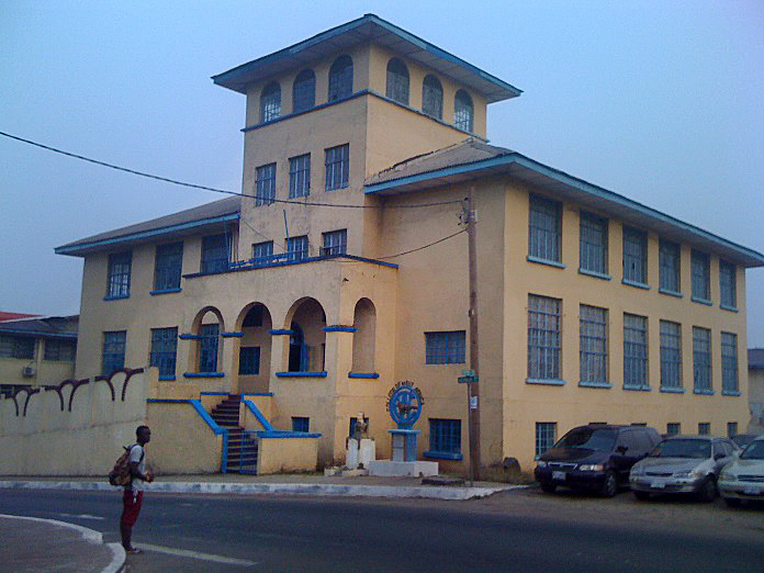 The College of West Africa building will be the site of the new graduate school of theology at United Methodist University in Liberia.  Photo by Julu Swen, UMNS