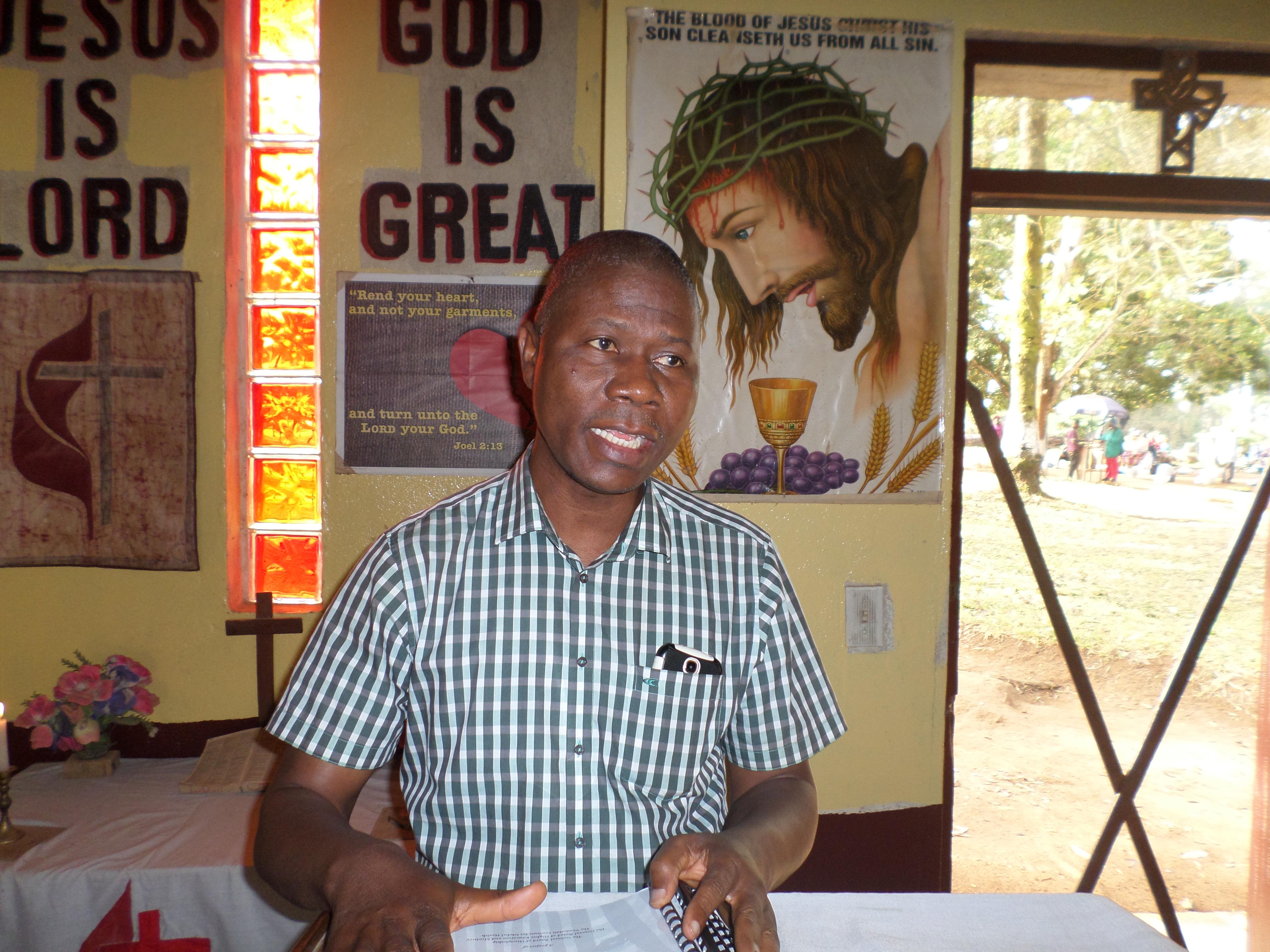 Victor Dookakeh Taryor, a United Methodist missionary, has left Ganta United Methodist Hospital after eight years as its administrator. Photo by Julu Swen, UMNS