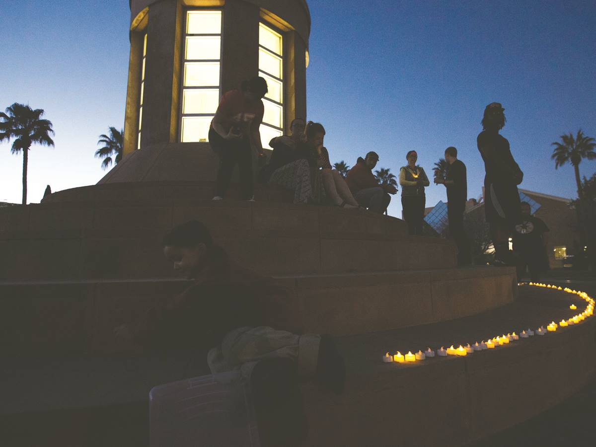 The Muslim Liberty Project held a candlelight vigil Feb. 9 at the campus of Arizona State University in Tempe, in honor of ISIS hostage Kayla Mueller and other victims of the terror group.