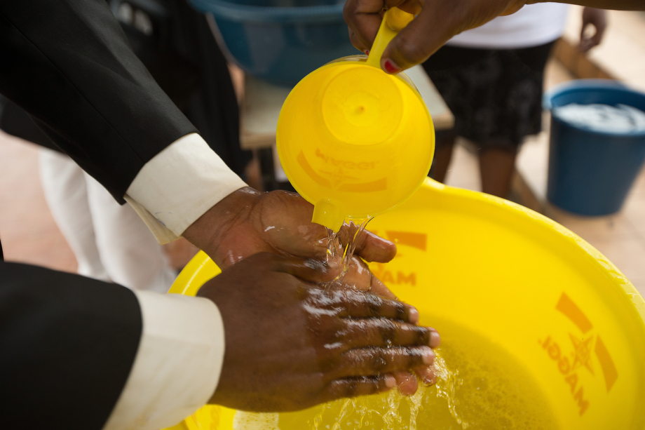 Frequent hand washing has become the norm in Côte d'Ivoire as church and public health officials raise warnings about the Ebola virus.