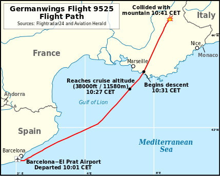 The plane was bound from Barcelona to Duesseldorf on March 24 when it crashed in a remote mountain valley in France.
