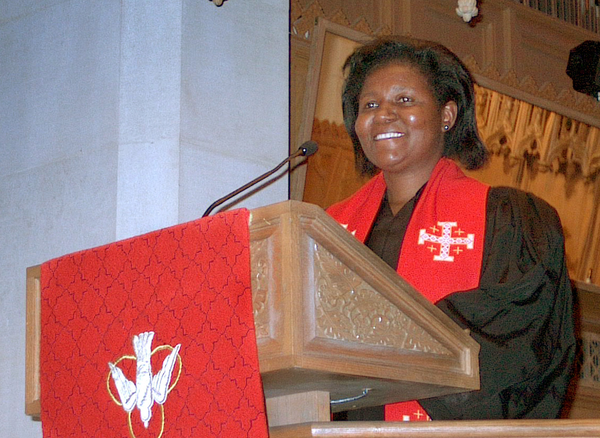 The Rev. Joaquina Nhanala of Mozambique is the first woman elected as a United Methodist bishop in Africa. A UMNS file photograph by Bill Kreamer.