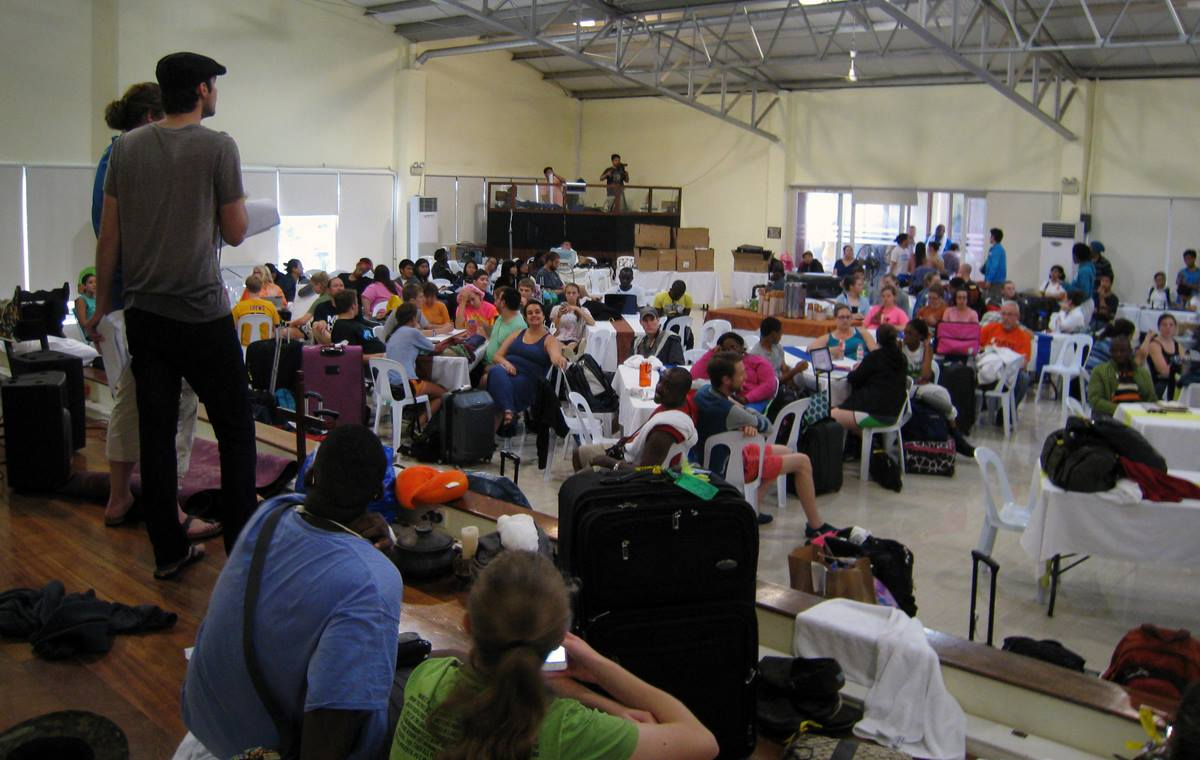 The Global Young People's Convocation gathered in 2014 in Tagatay, Luzon, Philippines. Participants even managed in a typhoon. Plans are for the Philippines to host the 2024 General Conference. Photo by Jen Tyler, courtesy of the United Methodist Board of Global Ministries