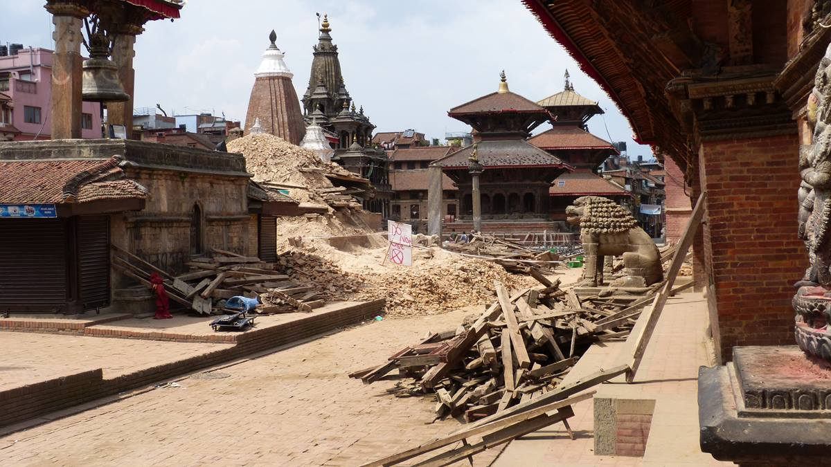 The Nepal earthquake also resulted in a cultural loss for Kathmandu as centuries-old temples and palaces collapsed. Photo courtesy of ACT Alliance