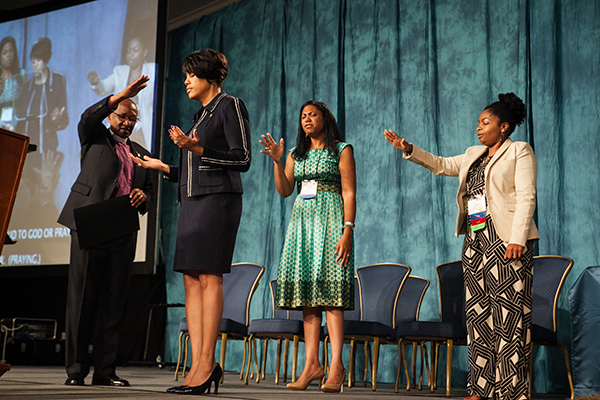 Mayor Stephanie Rawlings-Blake thanked The United Methodist Church at the 2015 Baltimore-Washington Conference for its leadership following riots spurred by the death of Freddie Gray.  Photo by Tony Richards, courtesy of the Baltimore-Washington Conference.