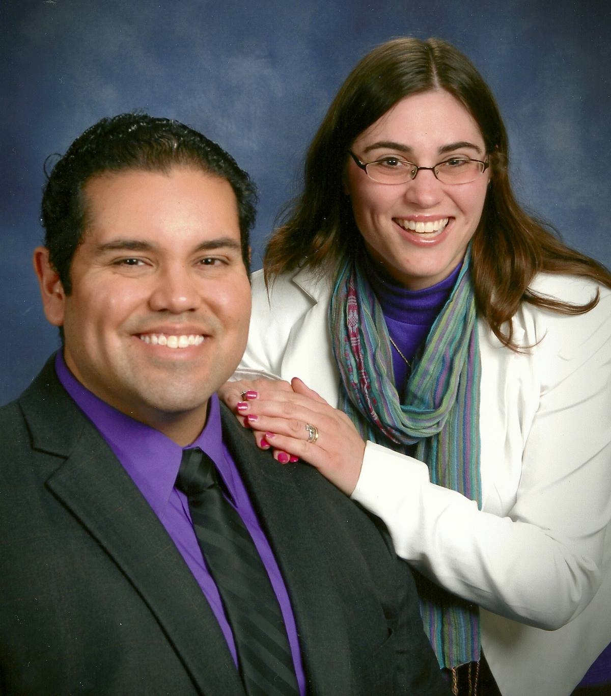 The Rev. Bonnie McCubbin is pastor of Good Shepherd United Methodist Church in Baltimore and also serves as a police chaplain. She is pictured with her husband, the Rev. Lemuel Dominguez, pastor at Bethany United Methodist Church in Ellicott City, Maryland.