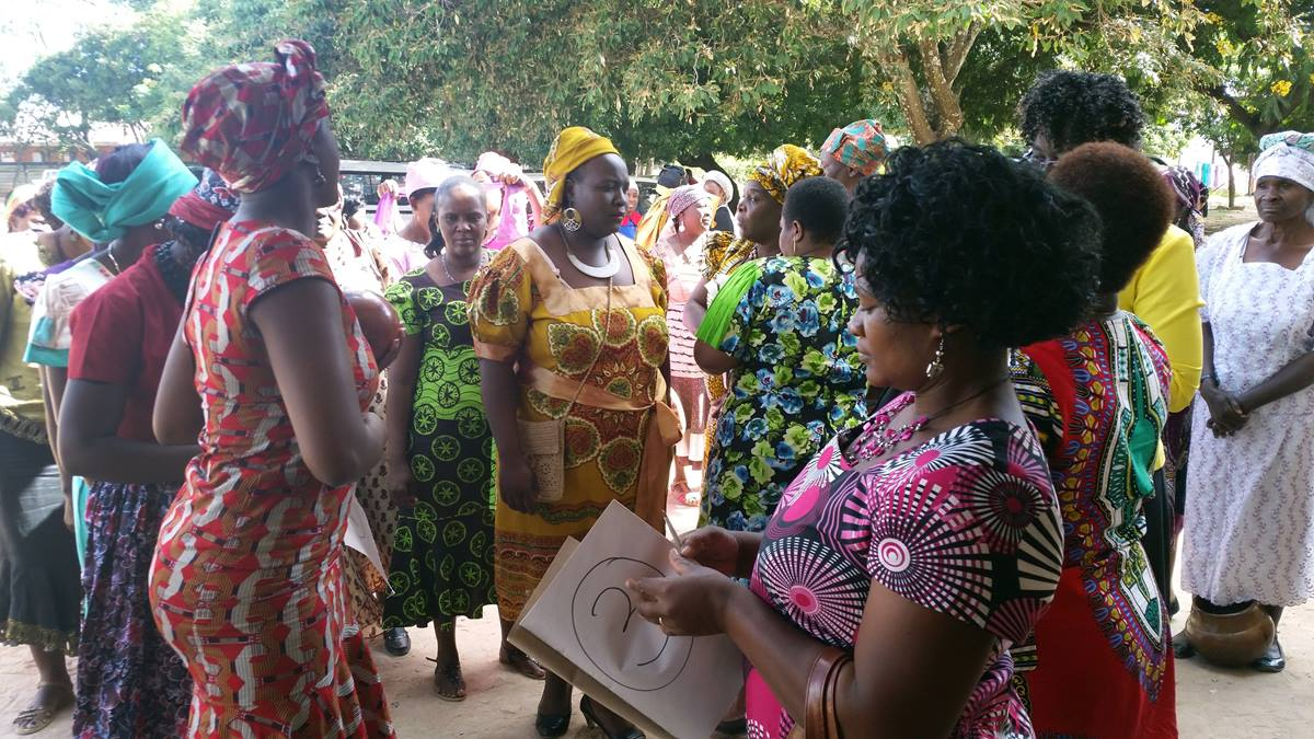 Women over 55 prepare to lineup for the modeling show. The event attracted 65 participants from 15 churches and promoted fellowship. Photo by Evelyn Chikwanah, UMNS