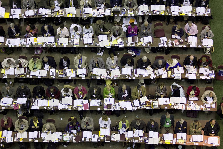 Delegates consider legislation during the 2008 United Methodist General Conference in Fort Worth, Texas.