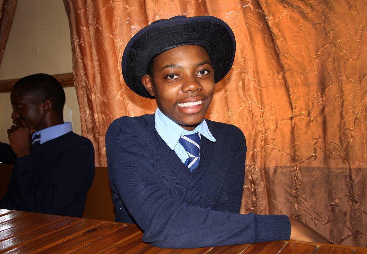 Tsungira Makoni, 16, wants to stay at Home of Hope orphanage until she finishes school.