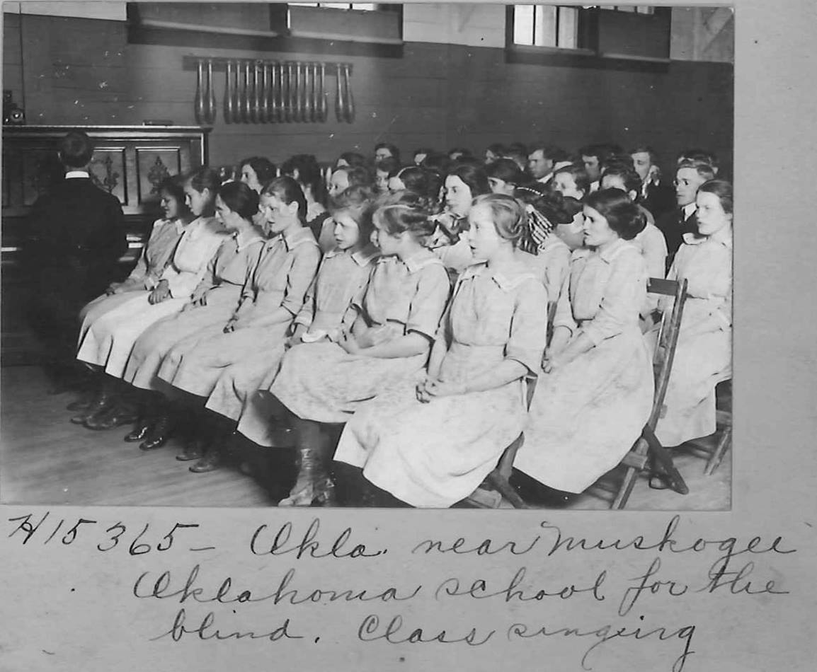 A photo of an Oklahoma school for the blind made its way into the vast collection of images depicting Methodist missionary work and the environs in which it was occurring. Photo courtesy United Methodist Commission on Archives and History
