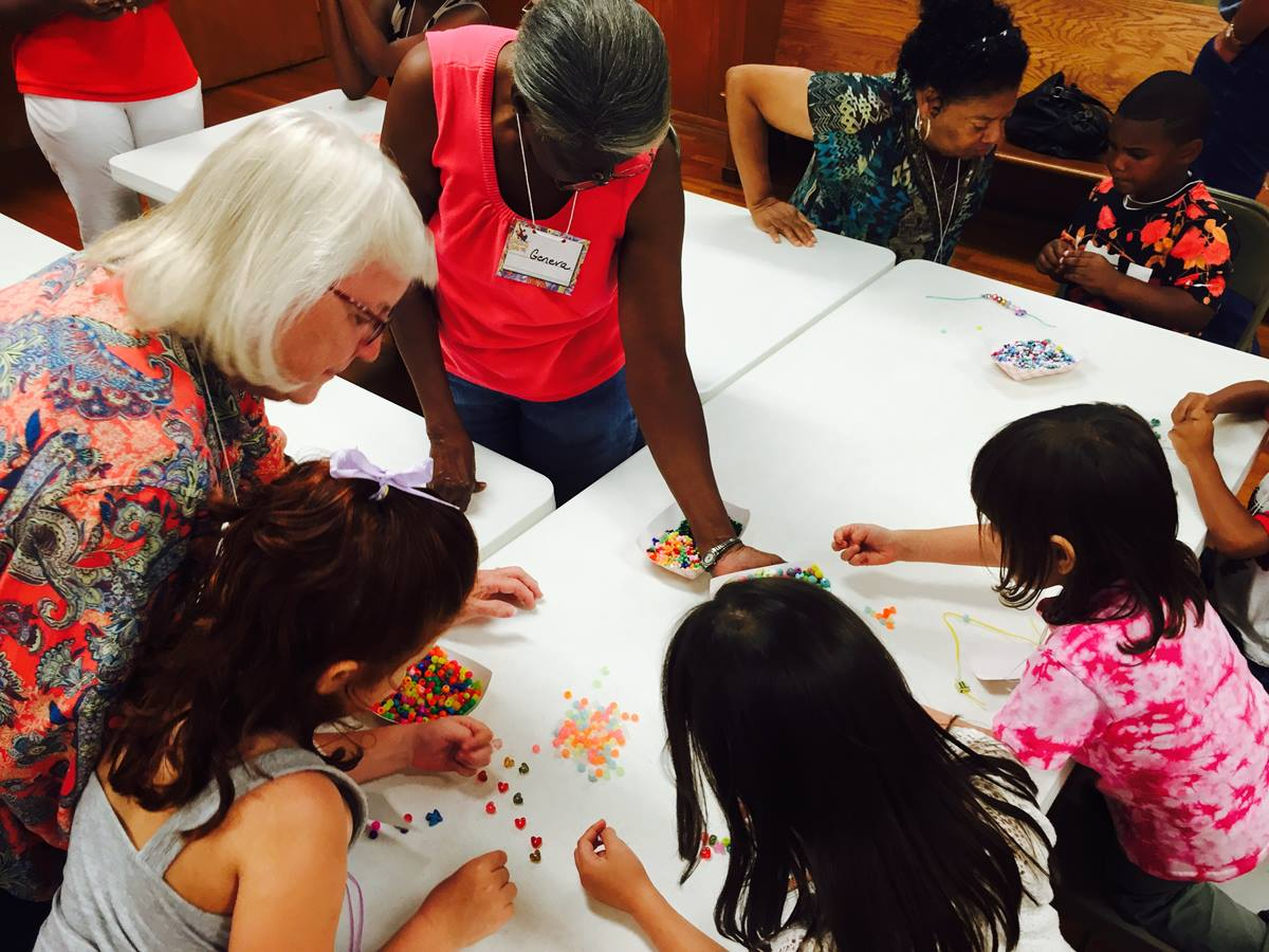 "First United Methodist Church in Hempstead, Texas, and mostly black Bethlehem United Methodist of that town are committed to ""long haul"" racial reconciliation, said the Rev. Katy Ware. The churches held a joint Vacation Bible School this summer. Photo courtesy of the Rev. Ware."