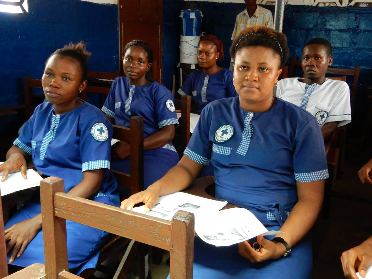 Frances Kromah, a nursing student in Liberia, has been solely responsible for her education since the 9th grade. She is involved with a mentorship program called Young Ladies in Waiting. Photo by Nyamah Dunbar, UMNS