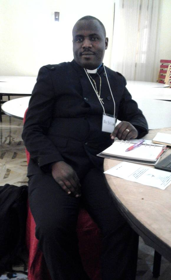 The Rev. Belard Kaole, senior pastor of Damaski  United Methodist church in the Samaria District located in  Lubumbashi, attends the seminar.  Kaole is a clergy member in the Southern Congo/Zambia Episcopal Area. Photo by Caleb Mbaz