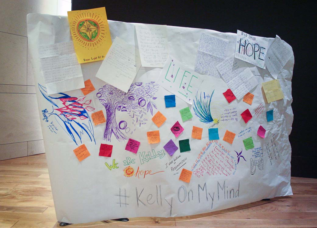 Students organized a wall of support for the community to write messages for Kelly Gissendaner who was executed Sept. 29.