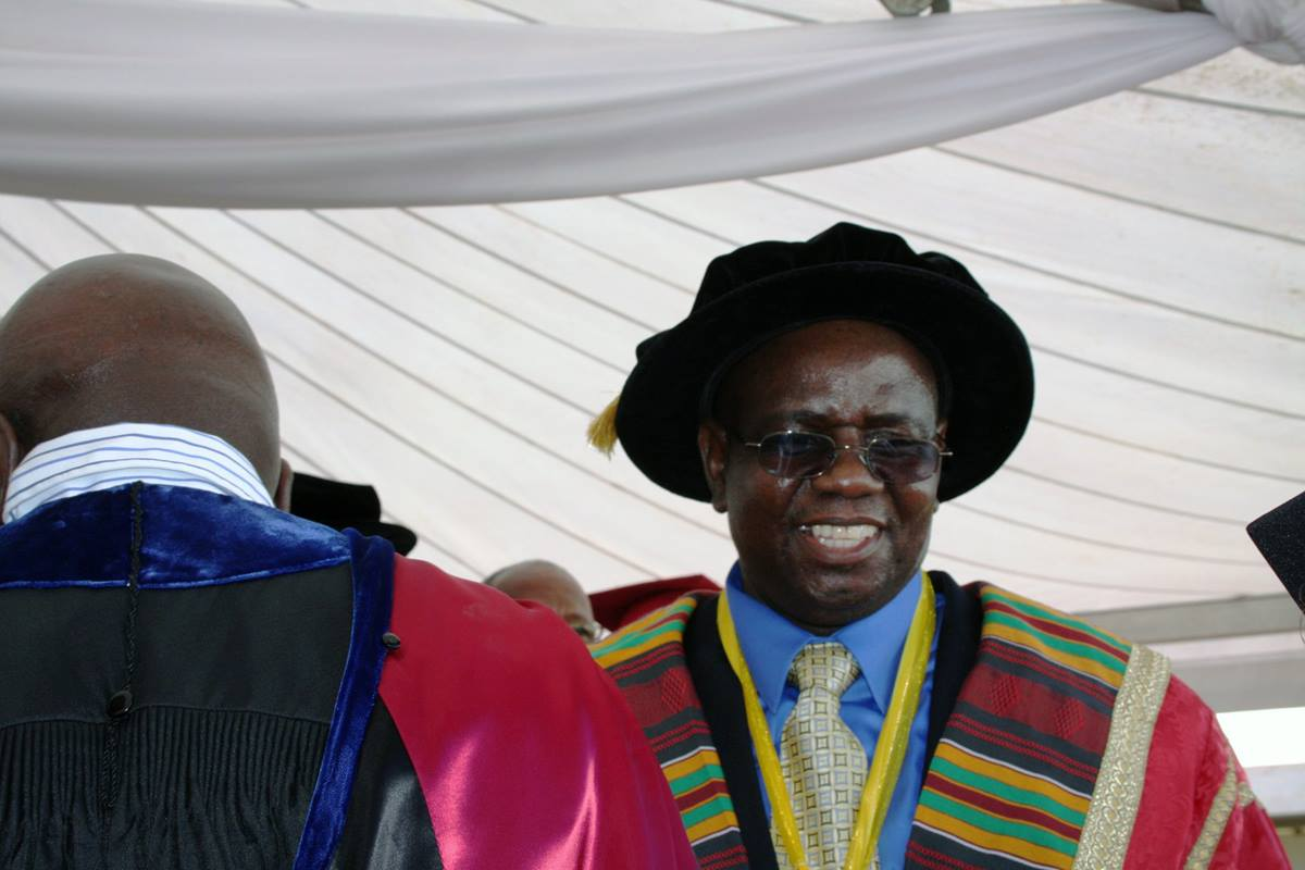 Munashe Furusa smiles after his installment as Africa University's fourth vice chancellor in March 2015.  File photo by Vicki Brown, UMNS