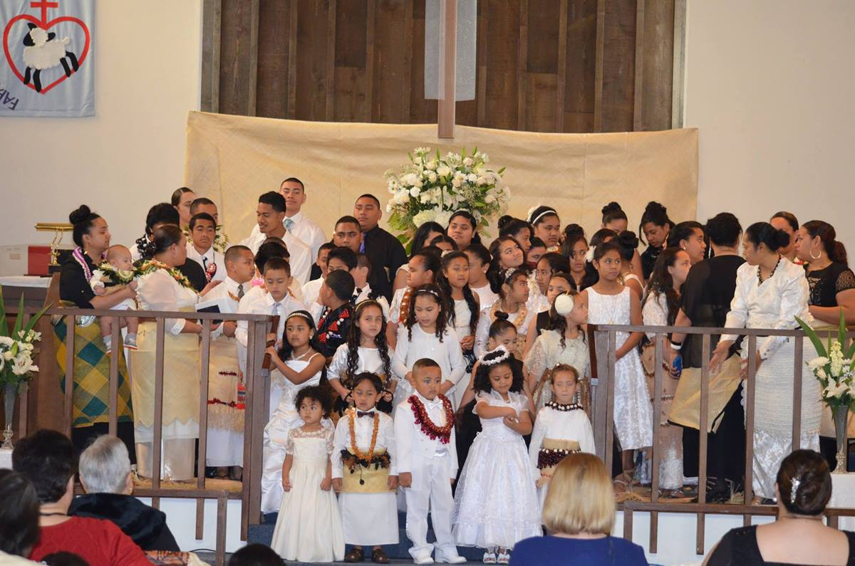 The Sunday School Choir prepares to sing at Seattle First Tongan United Methodist Church. In  2014, The United Methodist Church saw its Pacific Islander membership grow by nearly 7 percent. Photo courtesy of Seattle First Tongan United Methodist Church