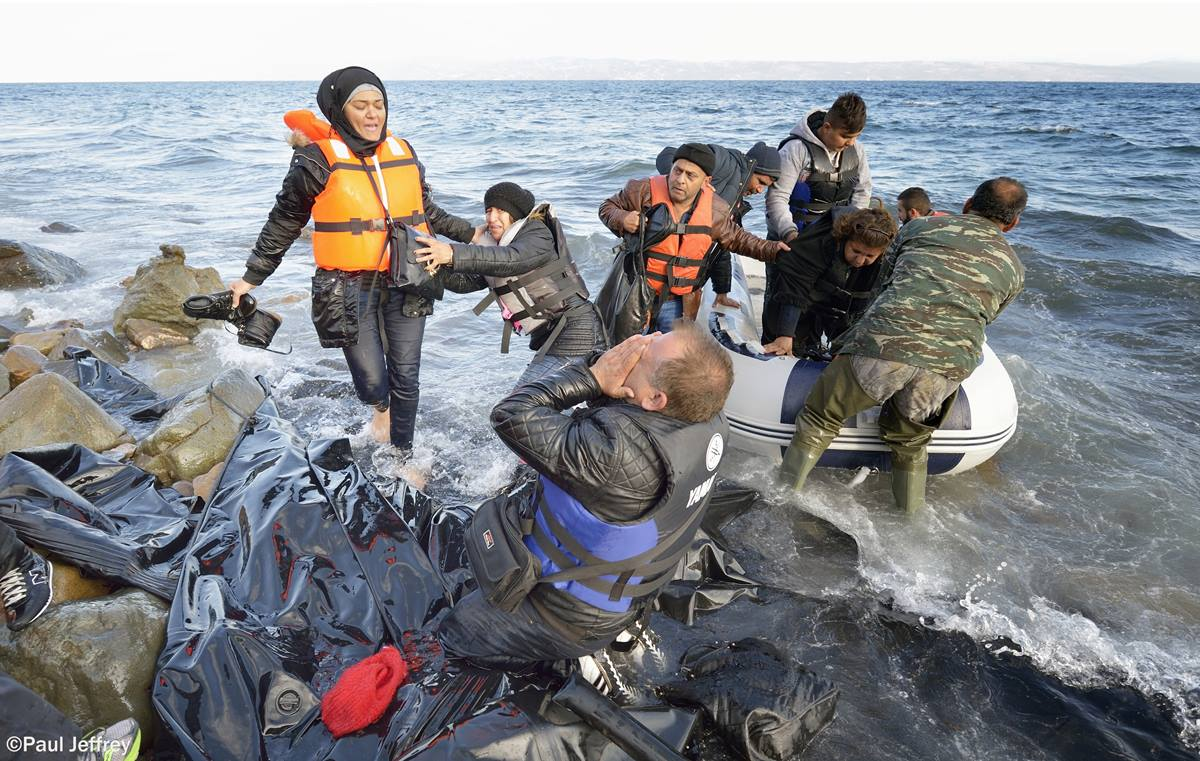 When he landed on the Greek island of Lesbos on Oct. 30, 2015, Nabil Minas, a refugee from Syria, carried his children through the water and left them on the shore, then fell on his face and kissed the ground. A Christian, he crossed himself and covered his face with his hands, weeping with joy.