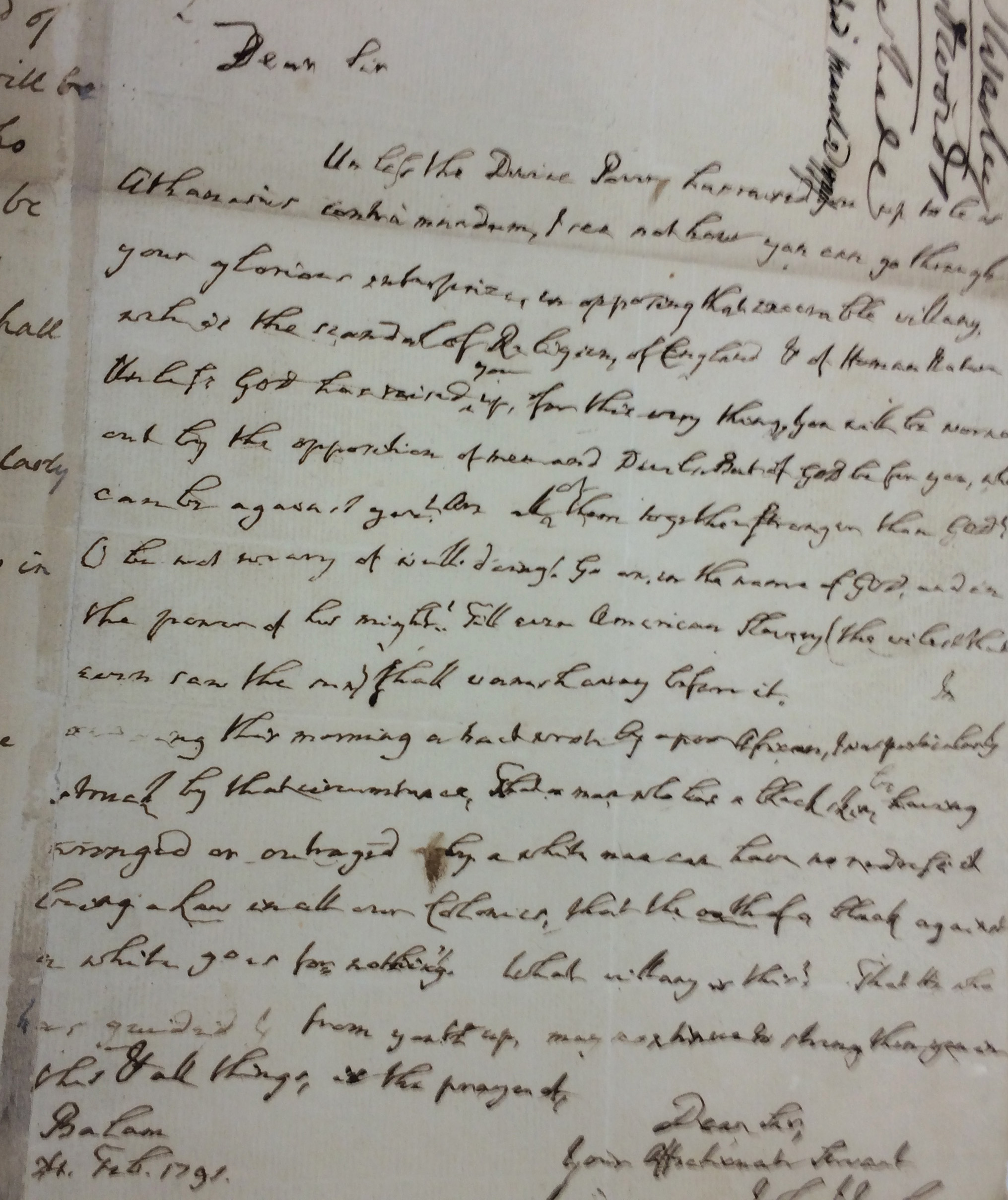 The United Methodist Commission on Archives and History shares its vaults with Drew University, which has John Wesley's last letter as part of its collection. Photo by Fran Walsh, United Methodist Communications