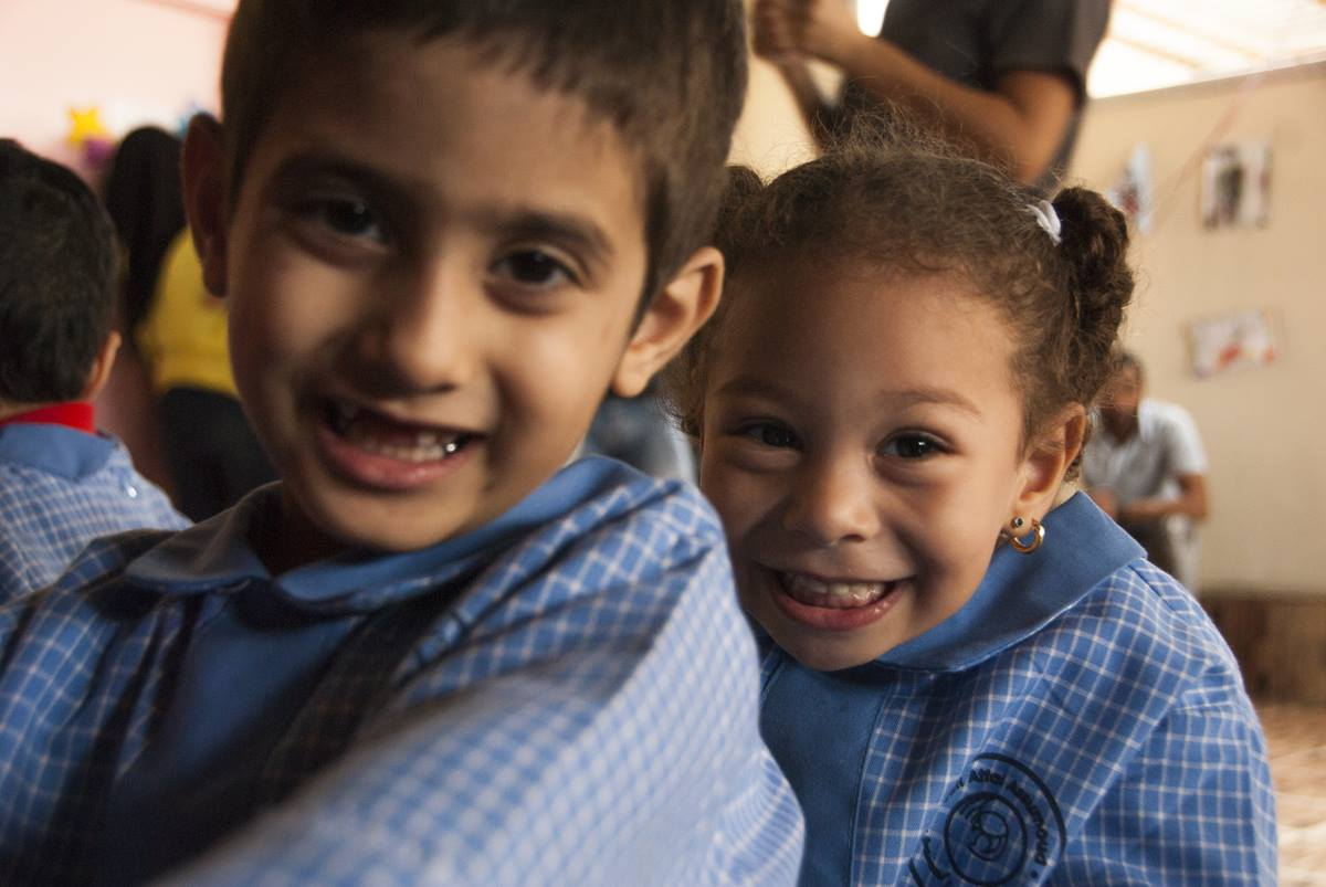 Children living in the refugee camp of Bourj el-barajneh in Beirut, Lebanon. The United Methodist Committee on Relief has provided funding for a kindergarten there. Photo courtesy of Dan Bracken