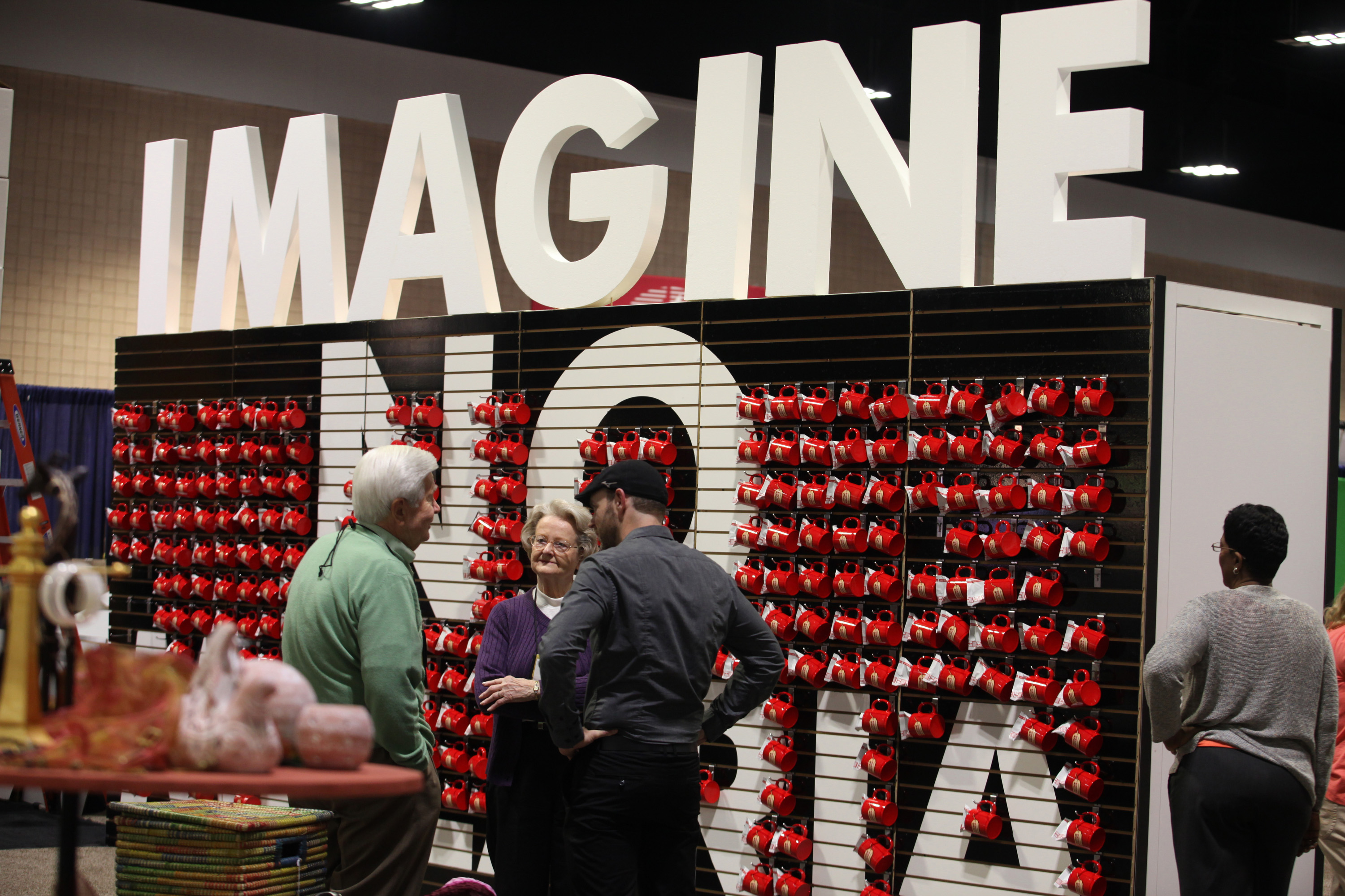 The Imagine No Malaria booth at the 2012 General Conference in Tampa, Fla., is an example of the kind of information booths that will be on display in 2016. Photo by Kathleen Barry, UMNS