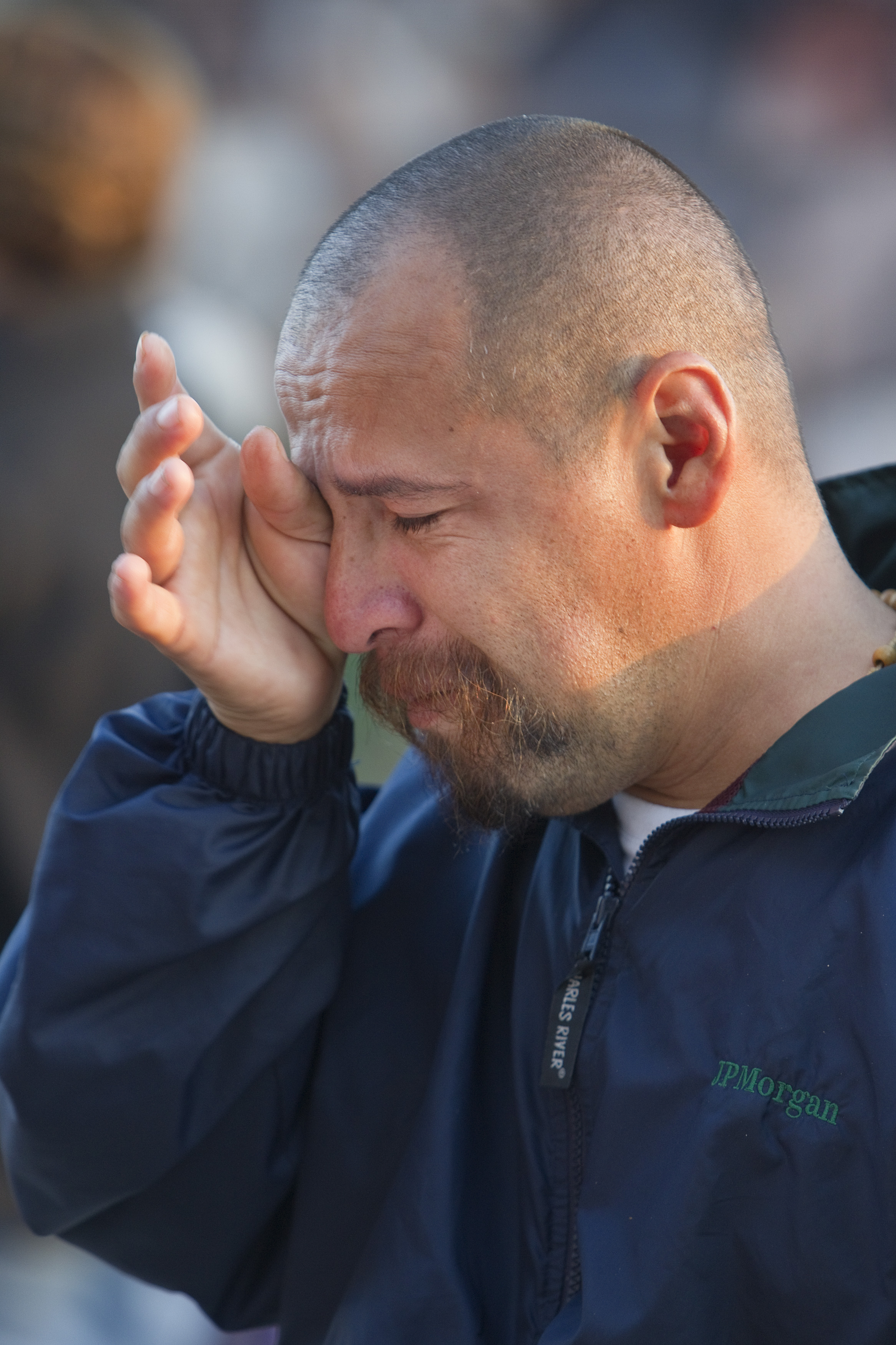 Luis Arturo Padilla Fuentes is separated from his three children, ages 4, 7 and 12 in the United States. Fuentes was attending the December 2012 Posada Without Borders worship service at El Faro Park in Tijuana, Mexico. File photo by Mike DuBose, UMNS