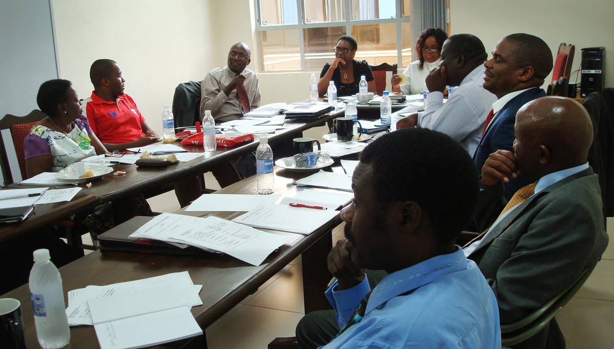 Participants of a training session to protect children against abuse and exploitation was held in Harare, Zimbabwe in January 2016.