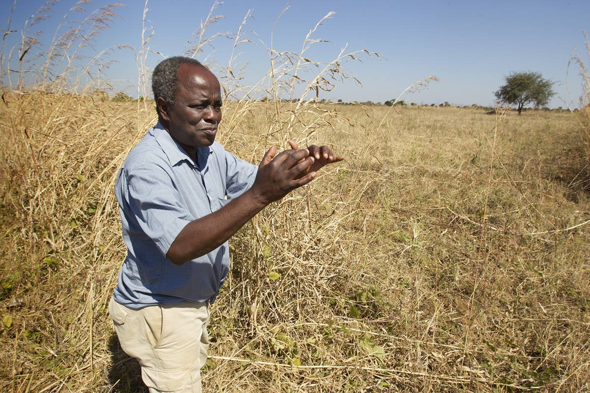 Lester Mhone discusses sustainable agriculture techniques in use at the United Methodist farm in Mchinji, Malawi, in 2013. Although the 2015-16 famine has affected the harvest yield, an irrigation system has helped, said Mhone. File photo by Mike DuBose, UMNS
