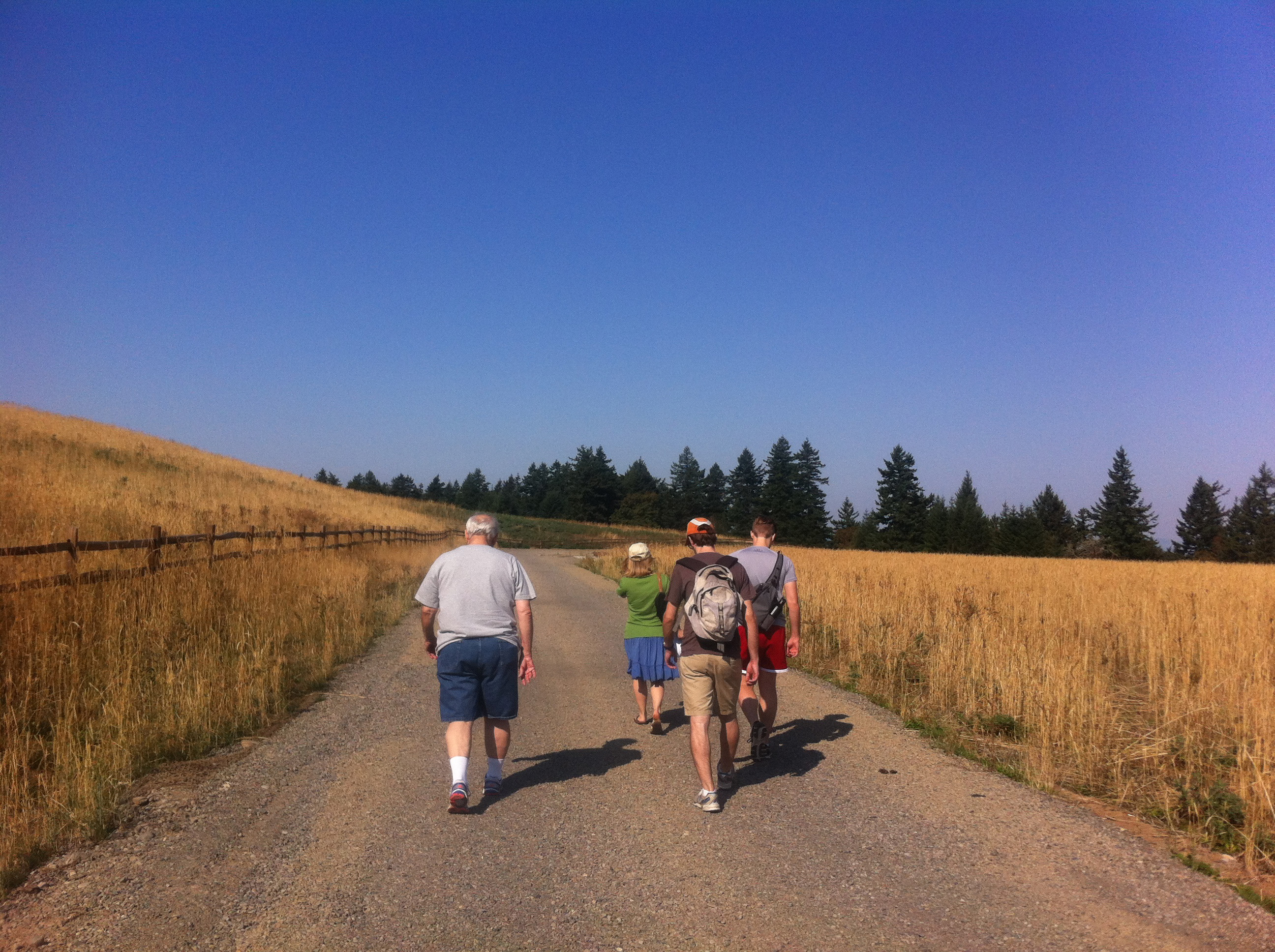 Members of Sellwood Faith Community in Portland, Ore., take a meditation hike in which participants take in nature and stop periodically to read Scripture and spiritual poetry. Photo courtesy of the Rev. Eilidh Lowery