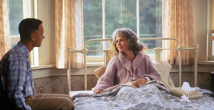 """""""Mama, what's my destiny?"""" Forrest asks. His mother smiles softly and says, """"That's just something you'll have to figure out for yourself."""" Photo from a scene in the film Forest Gump © Paramount Pictures; used with permission."""
