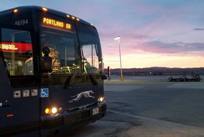 Randy Neal traveled from Crossville, Tenn., to General Conference in Portland, Oregon, by Greyhound bus. His hope was to share Jesus with the people he met along the way. Photo by Randy Neal.