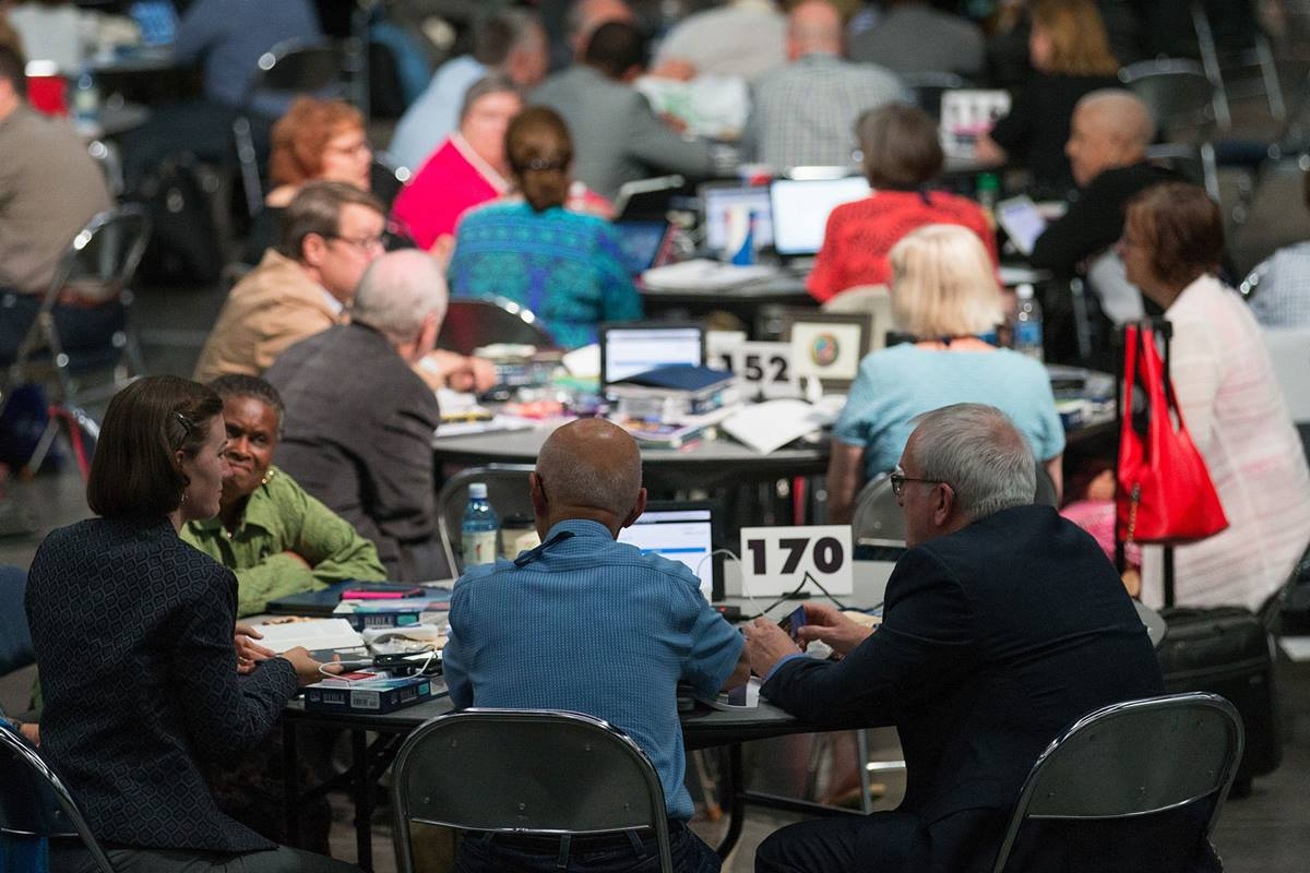 Delegates to the 2016 United Methodist General Conference consider their hopes and dreams for the legislative meeting. Photo by Mike DuBose, United Methodist Communications.