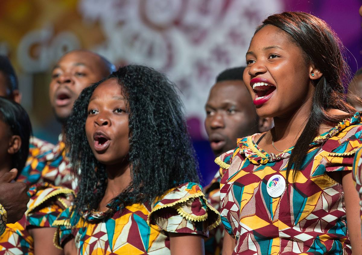 The Africa University choir sings during the presentation of the Africa University report May 16 at the 2016 United Methodist General Conference in Portland, Ore. Photo by Mike DuBose, UMNS.