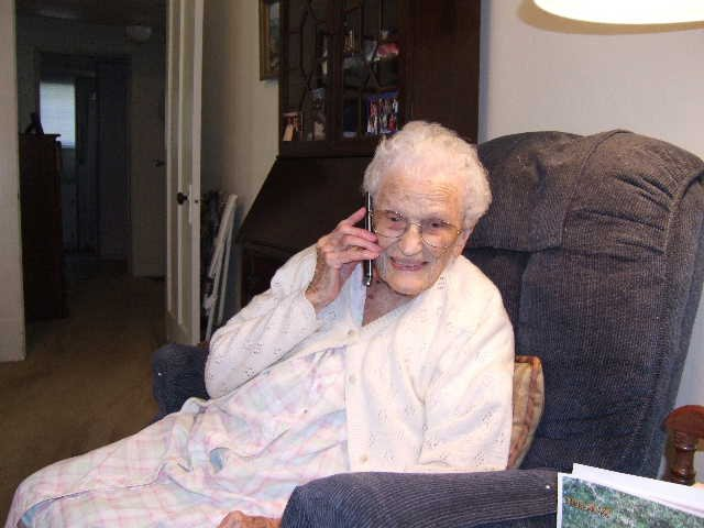Jean Christy took on a new telephone ministry for Andrews United Methodist Church at around age 105. She passed away at 111 on May 28. Photo by Kandy Barnard.