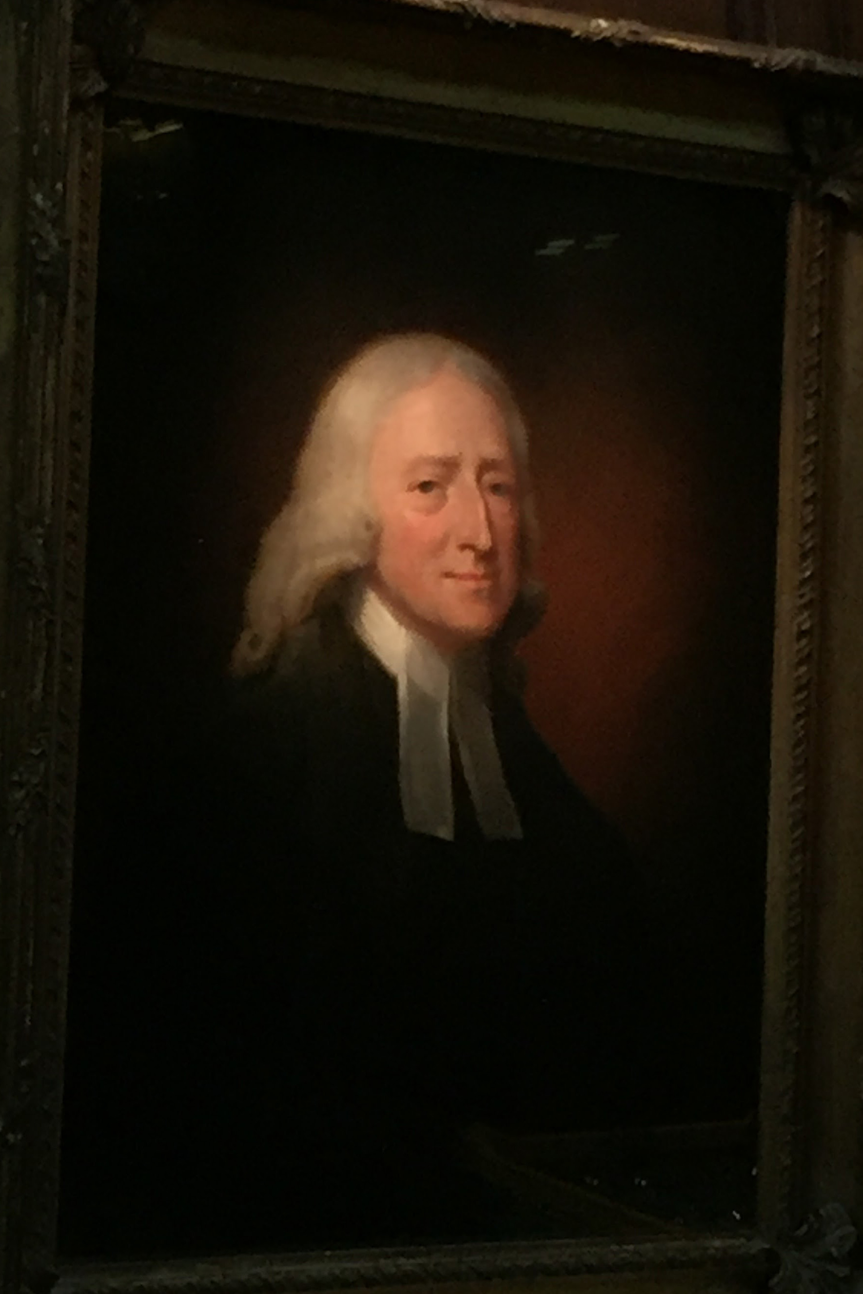Christ Church proudly displays a portrait of John Wesley.