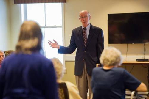 In preaching to residents of the Bethany memory care unit, retired United Methodist Bishop Kenneth Carder says he has found an attentive, appreciative audience, with many able to recall the Apostles' Creed, Lord's Prayer and well-known hymns.