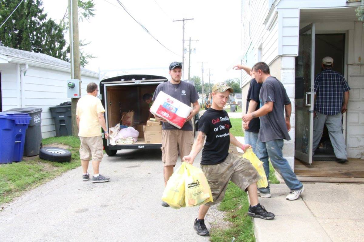 Volunteers and workers in Kokomo, Ind. unload donations and supplies to assist those in need after a tornado struck the city. You can help those affected by natural disasters by supporting the United Methodist Committee on Relief (UMCOR). Photo by Skyler Nimmons.