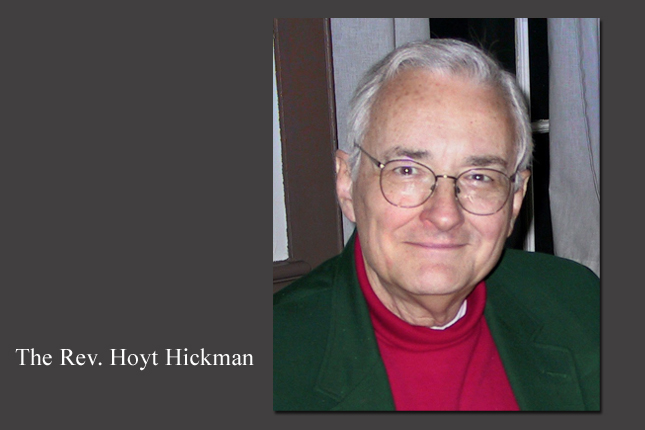 The Rev. Hoyt Hickman served for 21 years as director of worship resources development for the United Methodist Board of Discipleship, helping to shape The United Methodist Hymnal and The United Methodist Book of Worship. Photo courtesy Peter Hickman.
