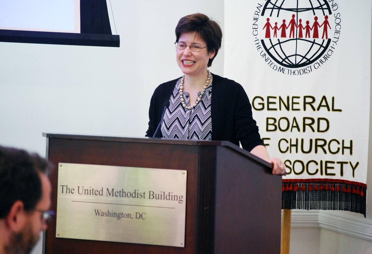 Melissa Rogers, executive director, White House Office of Faith-based and Neighborhood Partnerships, spoke at the United Methodist Building on Capitol Hill when the Board of Church and Society met there Sept. 23.