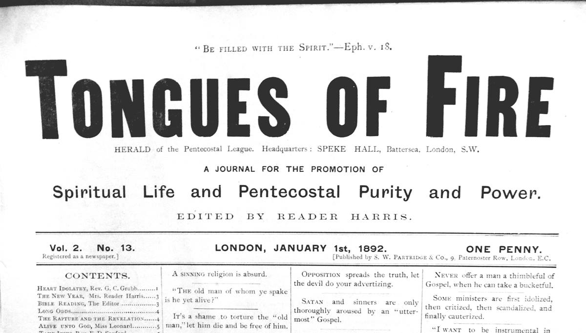 Priscilla Pope-Levison traveled to the Manchester Wesley Research Centre in England for her summer vacation. This 1892 edition of Tongues of Fire was among the journals she studied to gain insight into Britain's Wesleyan/Holiness movement. Photo courtesy Geordan Hammond