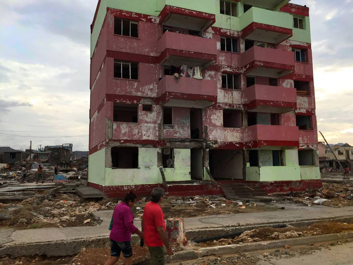 An empty building still stands amid rubble in Baracoa, Cuba. Methodist Bishop Ricardo Pereira Diaz helped bring emergency supplies for those affected by Hurricane Matthew. Bishop Ricardo Pereira Diaz.