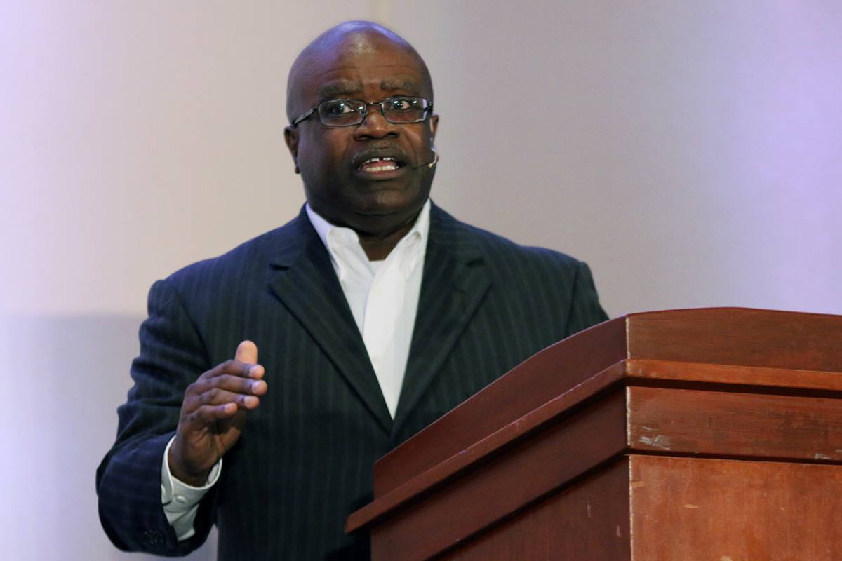 The Rev. Kenneth Levingston, pastor of Jones Memorial United Methodist Church in Houston, preaches during morning worship of the Wesleyan Covenant Association's first major gathering on Oct. 7.