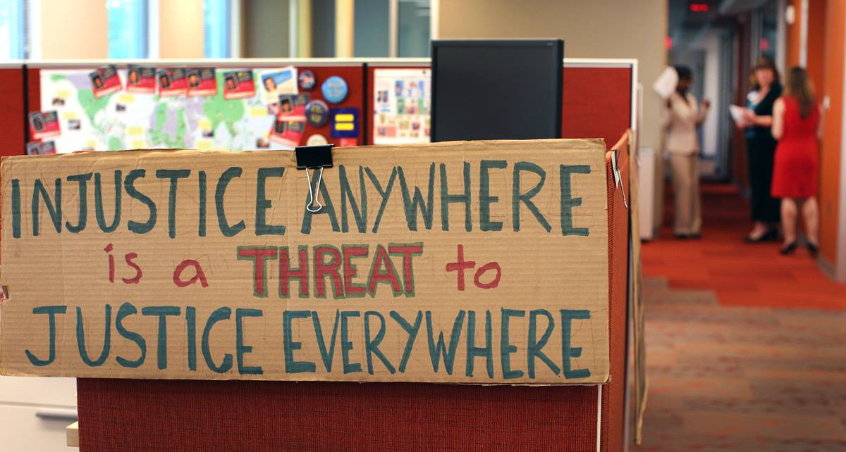 Cubicles in the area of missionary service are already taking on their own personality and messaging in the offices of Global Ministries in Atlanta.