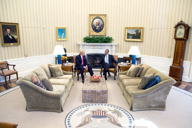 President Barack Obama and President-elect Donald Trump met Nov. 10 at the White House. Official White House Photo by Pete Souza