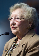 Louise Baird Short, 102, greets the 2008 United Methodist General Conference in Fort Worth, Texas. File Photo by Mike DuBose, UMNS