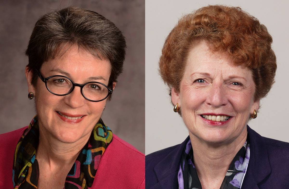 Bishop Sally Dyck (at left) and retired Bishop Jane Allen Middleton each released rulings of law in late December 2016 stemming from questions around homosexuality and ordination requirements. Photos courtesy of the Council of Bishops