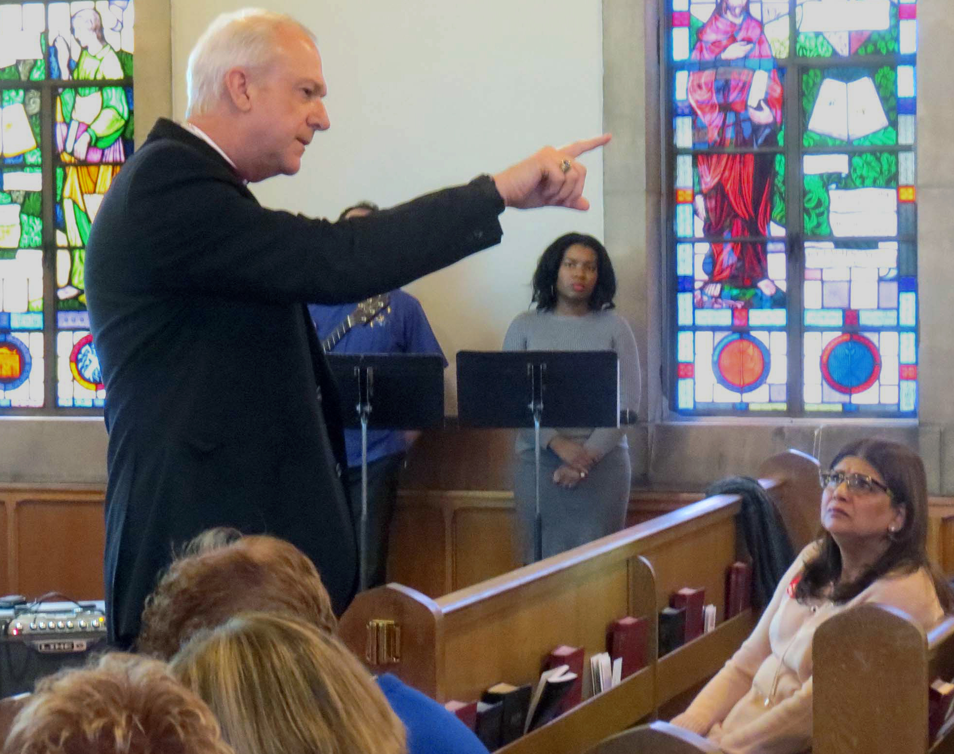 Bishop Thomas J. Bickerton told those gathered at the New York Conference's Immigration Vigil and Forum that this
