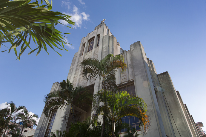 The Vedado Methodist Church is a noted example of Art Deco-style architecture. Photo by Mike DuBose, UMNS.