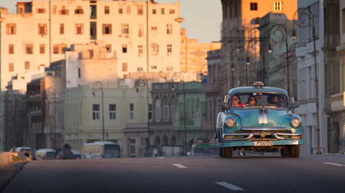 A 1950s Pontiac earns its daily keep as a taxi in Havana nearly 60 years after the U.S. imposed an economic embargo on Cuba. Photo by Mike DuBose, UMNS.